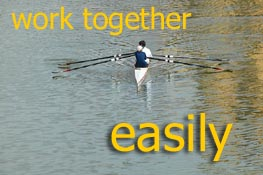 work together easily