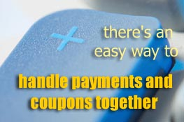 handle payments and coupons together